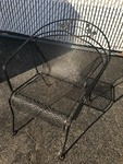 Iron patio chair