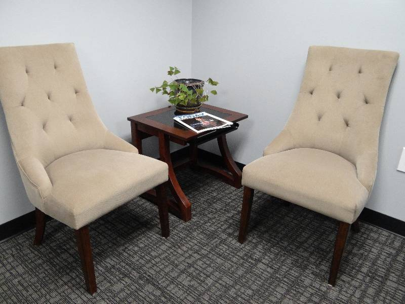 Pair Of Ashley Furniture High Back Chairs Corporate Office