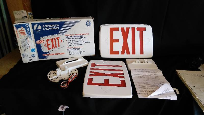 Lithonia Lighting Exit Sign Open Box May Be Incomplete