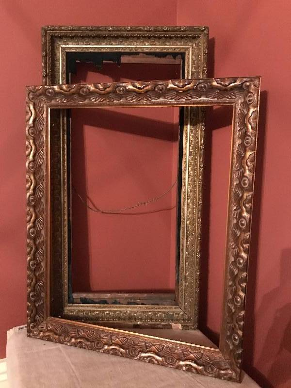 Set Of Antique Wood Carved Frames Very Large Overland Park Estate