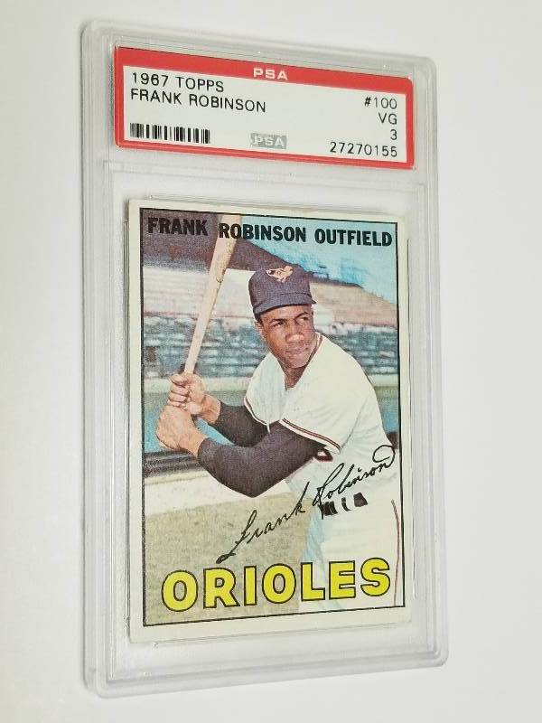 1967 Topps Frank Robinson 100 Graded Psa 3 Baltimore