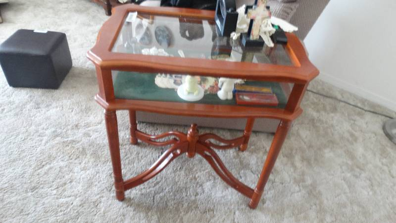 Shadow Box End Table West Wichita Estate Auction