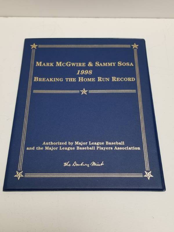 1998 Mark Mcgwire Sammy Sosa Home Run Record 22kt Gold