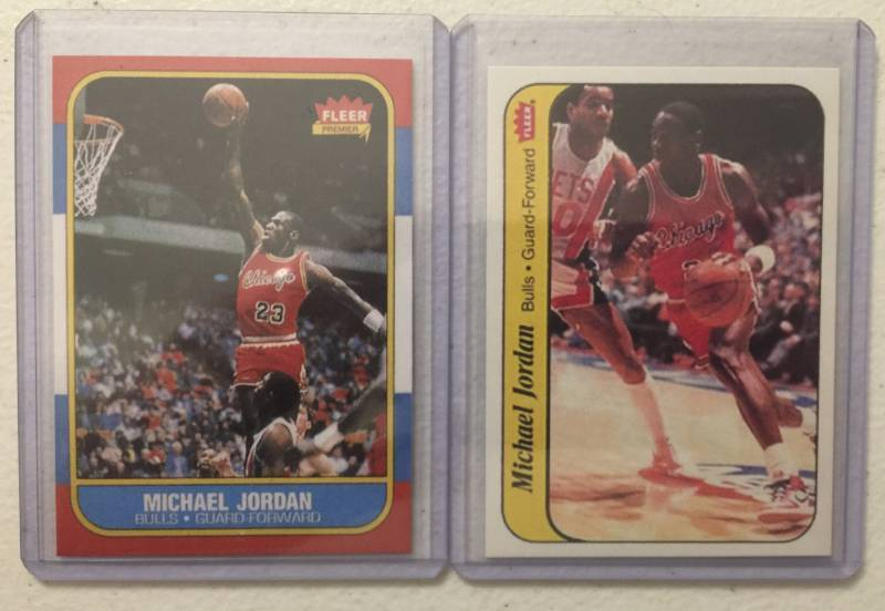 1986 87 Fleer Michael Jordan Reprint Rookie Card And Rookie