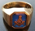 10K Gold Masonic Ring