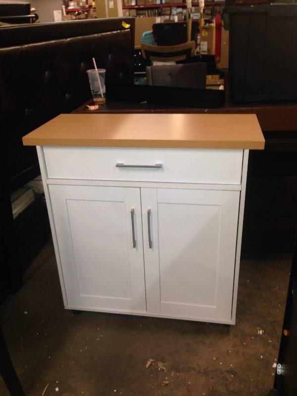 WHITE KITCHEN ISLAND CART | Quick Auction FURNITURE, Home ...