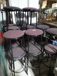 Lot of 23 padded stools.