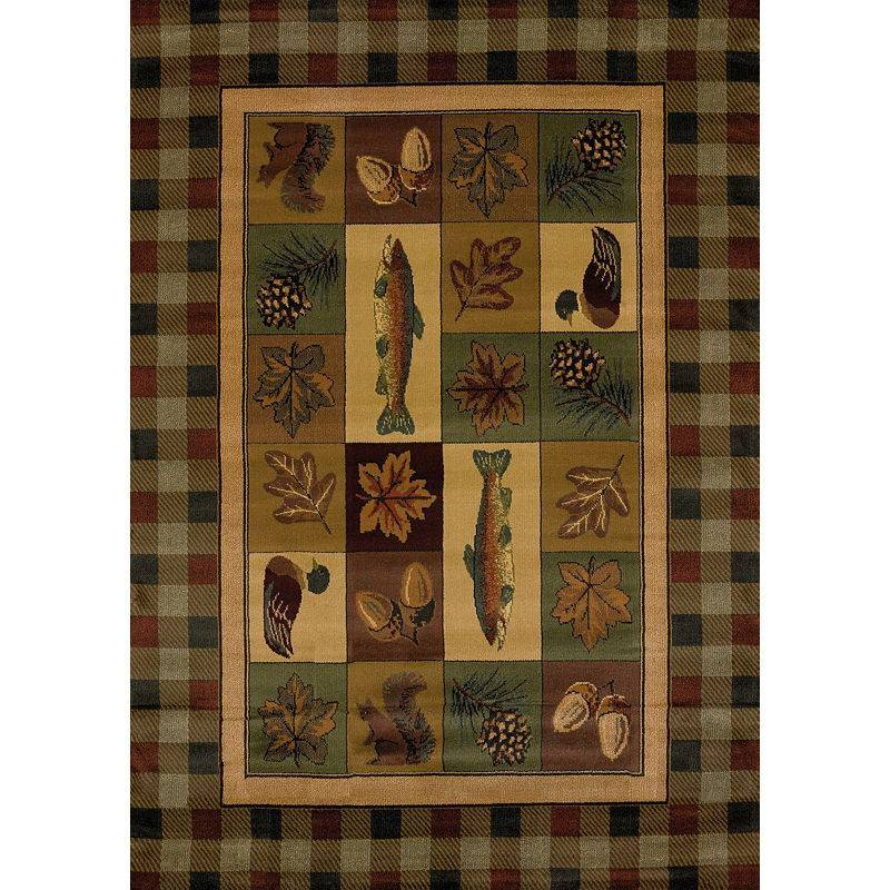 United Weavers Of America Genesis Brown Timberland Area Rug Rush