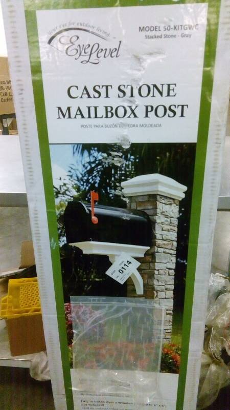 Cast Stone Mailbox Post Tools Fans Lighting Small Houseware