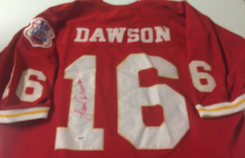 newest 2639d 610a0 Signed Len Dawson Kansas City Chiefs #16 Mitchell & Ness ...