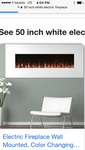 White Electric Fireplace Wall Mounted 50""
