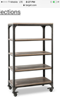 Franklin 5-Shelf Industrial Bookcase on metal casters