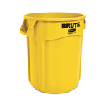 (2) CT lot Rubbermaid Commercial Products Brute Round Containers - 20gal w/o lid brute container trash can y