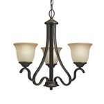 Home Danrich Marina 5-light Black Bronze W/red Hardwired Standard Chandelier