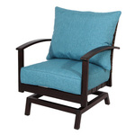 allen + roth Atworth Set of 2 Aluminum Conversation Chairs with PeacockBlue Cushions
