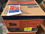 Case of 100 packets of Tide cleaner as pictured