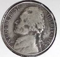 1964 D Jefferson Nickel Fine Very Detail