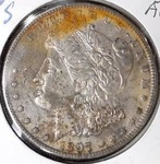 1897 S Morgan Silver Dollar, AU Detail