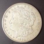 1921 S Morgan Silver Dollar, XF Detail