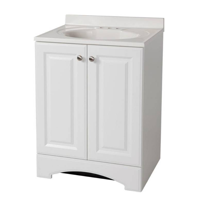 W Vanity In White With Ab Engineered Compos
