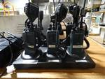 6 Motorola CT150 radios w/mics & 6 bank charger- Wichita Wingnuts walkie talkies-