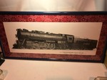 "Decore for the ultimate railroad  buff  Beautiful locomotive pictures framed and matted 18"" x 40"""
