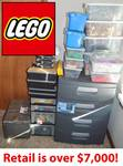 VERY LARGE LEGO LOT!!  Instructions for 91 Sets. Additional Unsorted 26 lbs. Comes With All Storage Containers - SEE LIST