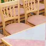 2 Tone Square Table with (2) Chairs