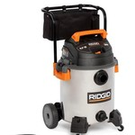 Ridgid Gallon Stainless Steel Wet/Dry Vac with Cart