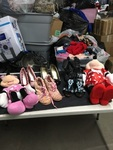Girls Shoes and Minnie Mouse Stuffed Dolls