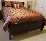 Queen Bed with mattress and sheet set
