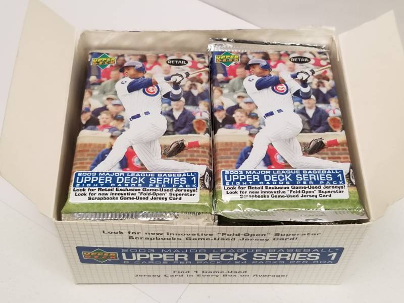 2003 Upper Deck Baseball Cards Series 1 Box 24 Packs Total