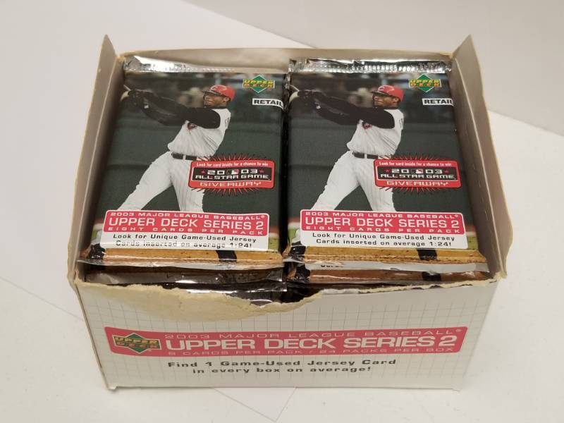 2003 Upper Deck Baseball Cards Series 2 Box 24 Packs Total