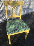 Really nice John Deere tractor chair great  distressed wood  finish cushions in perfect shape great Christmas gift for the ultimate John Deere lover