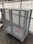 Nice new high dollar lockable steel cart with shelf heavy-duty casters as pictured
