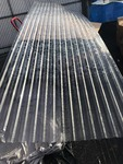 Clear corrugated plastic panel 4' foot by 12' easy to transport they roll up