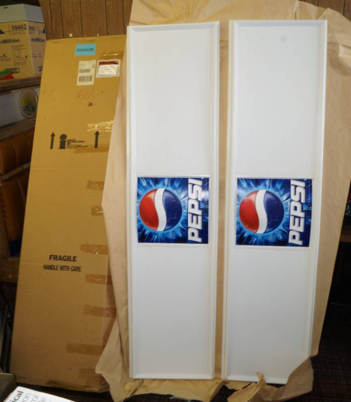 2 Brand New PEPSI Display Signs (changeable letter panels