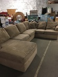 Beige/Tan Sectional Sofa with Chaise Lounge