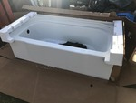 New 60 inch fiberglass tub very nice high dollar by sterling