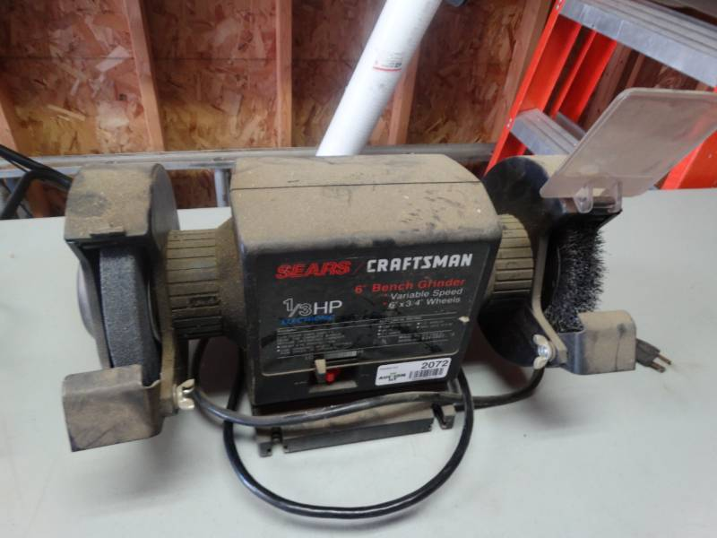 Astounding Craftsman 6 Bench Grinder South Wichita Tool Auction Lamtechconsult Wood Chair Design Ideas Lamtechconsultcom