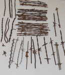 Several Different Designs of Vintage / Antique  Barbed Barb Wire Sections