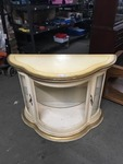 Serpentine Front White Display Cabinet