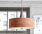 Montes 3-Light Cork Drum Chandelier