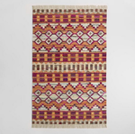 5ft x 8ft Woven Cotton Kilim Orissa Area Rug