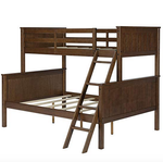 Dorel Living Maxton Twin over Full Bunk Bed -Mocha