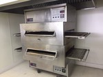 Middleby Marshall PS360 double stack gas pizza ovens