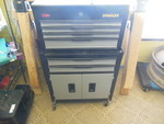 "40 1/2""x24""x11 1/2 Metal Stanley Tool box full of tools"