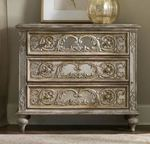 Hooker Furniture Solana Light Wood Ornate 3 Drawer Accent Chest  Mirrored Chest $2389