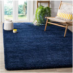 10ft x 10ft Milan Shag Area Rug - Navy Blue