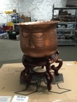 Copper Pot on Plant Stand Base